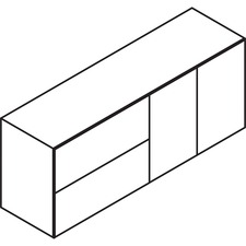 LAS71DLF2472BC - Lacasse Concept 70 Lateral Fle / Bookcase Credenza