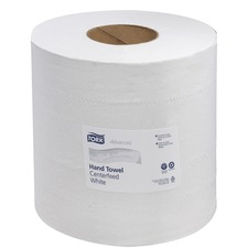 Tork Centrefeed Advanced Roll Hand Towel - 2 Ply - White - Centrefeed - 1 / Box
