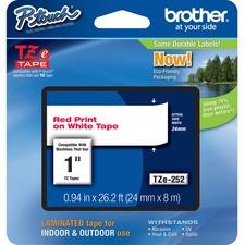 "BRT TZE252 Brother P-touch TZe 1"" Laminated Tape Cartridge BRTTZE252"