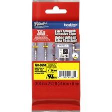 """BRT TZES651 Brother Extra Strength Adhesive 1"""" TZ Tapes BRTTZES651"""