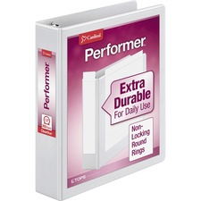 CRD 67324 Cardinal Performer ClearVue Round Ring Binder CRD67324