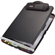 OIC 83306 Officemate Slim Clipboard Storage Box w/Calculator OIC83306