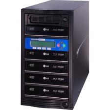 Kanguru 5 Target, Blu-ray Duplicator with Internal Hard Drive - StandaloneBlu-ray Writer - 10x BD-R, 16x DVD+R, 16x DVD-R, 52x CD-R, 4x DVD+R, 12x DVD-R - 6x BD-RE, 8x DVD+R/RW, 8x DVD-R/RW, 24x CD-RW - USB - 500 GB HDD52 CD Write/24 CD Rewrite10 BD Write