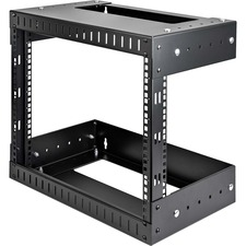 StarTech 8U Open Frame Wall Mount Equipment Rack