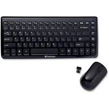VER 97472 Verbatim Mini Wireless Slim Keyboard Mouse Combo VER97472