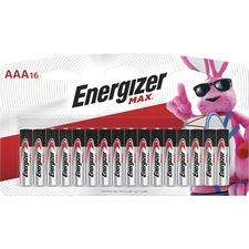 EVE E92LP16 Energizer Max Alkaline AAA Batteries EVEE92LP16