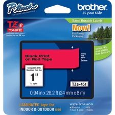 BRT TZE451 Brother P-touch TZe Laminated Tape Cartridge BRTTZE451