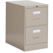 """Global 2600 Plus Vertical File Cabinet - 2-Drawer - 18"""" x 26.6"""" x 29"""" - 2 x Drawer(s) for File - Legal - Vertical - Ball-bearing Suspension, Lockable, Recessed Handle - Nevada - Metal"""