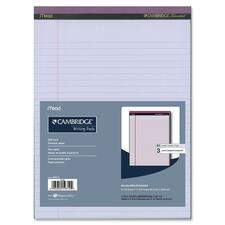 """Hilroy Cambridge Colored Pad - 150 Sheets - Glue - 20 lb Basis Weight - 8 1/2"""" x 11"""" - Orchid Paper - Stiff-back - 1 / Pack"""