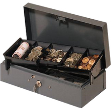 "MMF Steelmaster 2212CBTGY Cash Box - Gray - 5.20"" (132.08 mm) Height x 10.40"" (264.16 mm) Width x 3.10"" (78.74 mm) Depth"