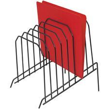 Acme United Wire Step File Sorter - 8 Compartment(s) - Desktop - Black - 1 Each