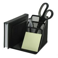 "Winnable Desk Organizer Caddy - 5"" Height x 5.8"" Width x 5.1"" Depth - Desktop - Black - 1 Each"