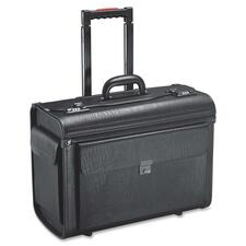 "Holiday SA0801 Carrying Case (Roller) Notebook, File Folder - Black - Vinyl - Handle - 14"" (355.60 mm) Height x 19"" (482.60 mm) Width x 9"" (228.60 mm) Depth"