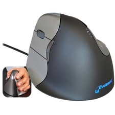 Evoluent VerticalMouse 4 Left Mouse - Optical - Cable - 1 Pack - USB 2.0 - 2600 dpi - Scroll Wheel - 6 Button(s) - 6 Programmable Button(s) - Left-handed Only