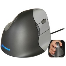 Evoluent VerticalMouse 4 Right Mouse - Optical - Cable - 1 Pack - USB 2.0 - 2600 dpi - Scroll Wheel - 6 Button(s) - 6 Programmable Button(s) - Right-handed Only