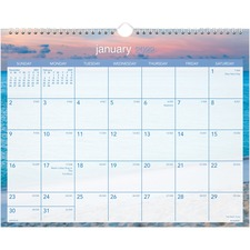 AAGDMWTE828 - At-A-Glance Tropical Escape Monthly Wall Calendar