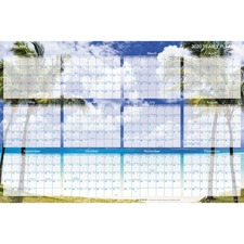 AAG DMWTEE28 At-A-Glance Tropical Escape 2-Sided Wall Planner AAGDMWTEE28