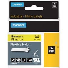 DYM 18490 Dymo Rhino Flexible Nylon Labels  DYM18490