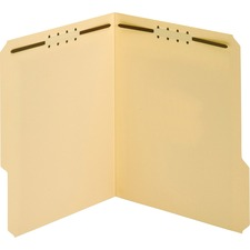"""Globe-Weis Recycled Manila Fastener Folder - Letter - 8.50"""" Width x 11"""" Sheet Size - 0.75"""" Expansion - 2 - 2"""" Fastener Capacity for Folder - 1/3 Tab Cut - Assorted Position Tab Location - 11 pt. Folder Thickness - Manila - Manila - Recycled - 50 / Box"""
