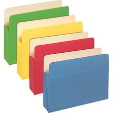 "PFX 1524EASST Pendaflex 3-1/2"" Expansion Colored File Pockets PFX1524EASST"