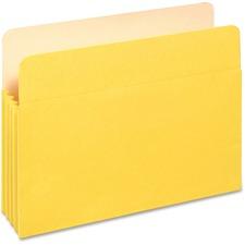 "PFX 1524EYEL Pendaflex 3-1/2"" Expansion Colored File Pockets PFX1524EYEL"
