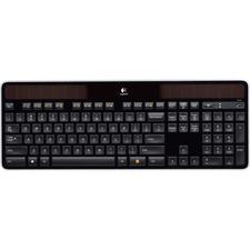Logitech K750 Keyboard - Wireless Connectivity - RF - 2.40 GHz - USB Interface - English - Computer - PC - Black