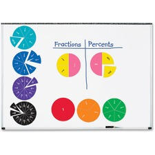 LRN LER1616 Learning Res. Dble-sided Magnetic Fraction Circles LRNLER1616
