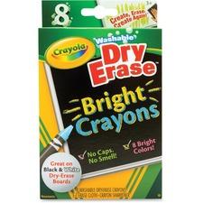 CYO 985202 Crayola Odorless Dry Erase Crayons CYO985202