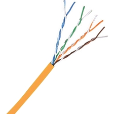 Comprehensive Cat 5e 350MHz Solid Orange Bulk Cable 1000ft