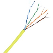 Comprehensive Cat 5e 350MHz Solid Yellow Bulk Cable 1000ft