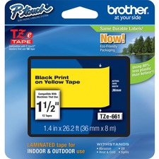 "Brother TZe 1-1/2"" Laminated Tape Cartridges"