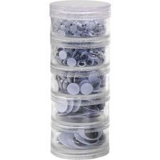 CKC 3407 Chenille Kraft Wiggle Eyes Stackable Storage Jar CKC3407