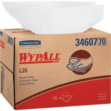 KCC 34607 Kimberly-Clark WypAll L20 Wipers Brag Box KCC34607