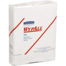 KCC 35025 Kimberly-Clark WypAll X50 Folded Wipers KCC35025