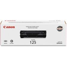Canon No. 125 Original Toner Cartridge - Laser - 1600 Pages - Black - 1 Pack