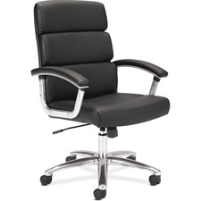 BSX VL103SB11 Basyx VL103 High-back Leather Executive Chair BSXVL103SB11