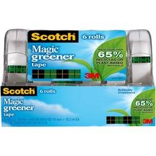 MMM 6123 3M Scotch Magic Greener Tape in Dispenser MMM6123