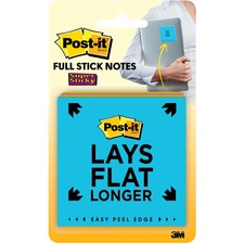 """Post-it® Super Sticky Full Adhesive Notes, 3 in x 3 in, Rio de Janeiro Color Collection - 100 - 3"""" x 3"""" - Square - 25 Sheets per Pad - Unruled, Square - Bright Assorted - Paper - Self-adhesive - 4 Pad"""