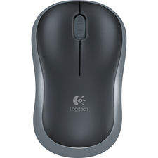 Logitech M185 Mouse - Optical - Wireless - Radio Frequency - Gray - USB - 3 Button - Symmetrical