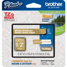"BRT TZEMQ835 Brother PTouch 1/2"" Laminated TZe Tape BRTTZEMQ835"
