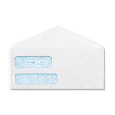"Columbian POLY-KLEAR Double-window Security Envelopes - Double Window - #9 - 3 7/8"" Width x 8 7/8"" Length - 24 lb - Gummed - Wove - 500 / Box - White"