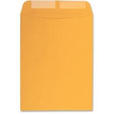 "Columbian Catalog Envelopes - Catalog - #10 1/2 - 9"" Width x 12"" Length - 28 lb - Gummed - Kraft - 100 / Box - Brown"