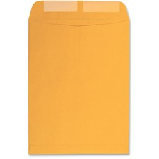 "Columbian Catalog Envelopes - Catalog - 9 1/2"" Width x 14 3/4"" Length - 28 lb - Gummed - Kraft - 100 / Box - Brown"