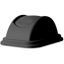 Rubbermaid Untouchable Lid - Dome - Plastic - 1 Each - Black