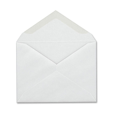 "Columbian Gum Seal Invitation Envelopes - Announcement - #5-1/2 - 4 3/8"" Width x 5 3/4"" Length - 24 lb - Gummed - Wove - 100 / Box - White"