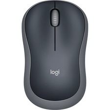 Logitech Plug-and-Play Wireless Mouse - Optical - Wireless - Radio Frequency - 2.40 GHz - Silver - USB - 1000 dpi - Scroll Wheel - 3 Button(s) - Symmetrical