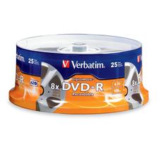 Verbatim DVD-R 4.7GB 8X with DigitalMovie Surface - 25pk Spindle