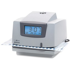 Pyramid 3500 Time Clock & Document Stamp - Card Punch/StampUnlimited Employees - Digital
