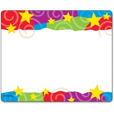 TEP T68070 Trend Stars & Swirls Colorful Self-adh. Name Tags TEPT68070