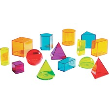 LRN LER4331 Learning Res. View Thru Geometric Solids Set LRNLER4331